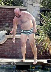 IMG_7883 (danimaniacs) Tags: party swimmingpool shirtless man guy sexy hot bear beard scruff hunk hairy mansolo swimsuit trunks bald