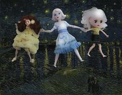 dolls in van gogh starry night 2 (mydolladventure) Tags: dolls fashiondoll rosie vangogh