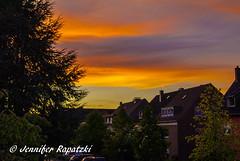 blazing sunset (Bernsteindrache7) Tags: summer flora fauna color sony alpha 100 tree outdoor landscape yellow build light sky sun sunset heaven himmel