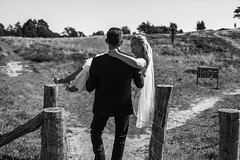 Just Married (' A r t ') Tags: arthurcammelbeeck cammelbeeck people summer art bw blackandwhite mono monochrome newwed wwwflickrcomphotosartcammelbeeck wwwcamelendk justmarried married marriage carry bride groom