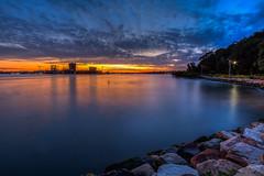 The Last Light (satochappy) Tags: river riverbank parramattariver sydney nsw australia bluehour shore water reflections park    clouds