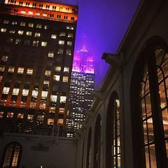 #FogTheUltimatePurplePeopleEater #ESB #purple #fog #HAZE #hazeofpurple #hendrix #marchofdimes #prematurityday (DOTCALM9) Tags: fog square purple squareformat esb empirestatebuilding lordtaylor mayfair marchofdimes purplehaze iphoneography instagramapp uploaded:by=instagram prematurityday