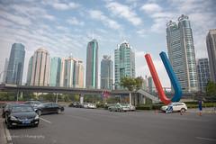 Shanghai World Financial Center (Andrés Ceballos V.) Tags: china architecture buildings skyscrapers shanghai yang yinyang yin magnet shangai rascacielos iman imán 上海市 陰陽 shanghaiworldfinancialcenter shanghái andrescv