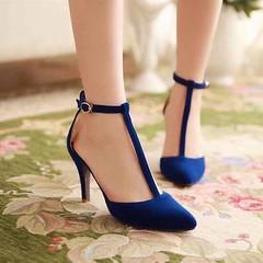 รองเท้าส้นสูง แฟชั่นเกาหลีหนังกลับสวยหรู นำเข้า ไซส์34ถึง39 พรีออเดอร์RB2034 ราคา1170บาท รองเท้าส้นสูงสวย ผู้หญิงหรูหราหนังกลับด้านหน้าทรงหัวแหลมสไตล์อินเทรนด์แบรนด์เนมพร้อมสายรัดข้อดูเปรี้ยวเซ็กซี่ ตัวรองเท้าแฟชั่นเป็นส้นสูงหนังกลังสังเคราะห์ใส่แล้วช่วยใ
