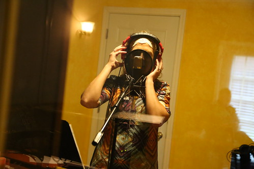 "Janika recording vocals <a style=""margin-left:10px; font-size:0.8em;"" href=""http://www.flickr.com/photos/117397217@N06/15496630719/"" target=""_blank"">@flickr</a>"