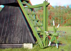 Molen Openluchtmuseum Arnhem 3D (wim hoppenbrouwers) Tags: 3d arnhem anaglyph stereo molen openluchtmuseum openluchtmuseumarnhem redcyan