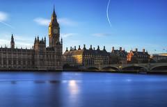 Approaching Sunset (NorthFla) Tags: longexposure london westminster thames parlaiment leebigstopper