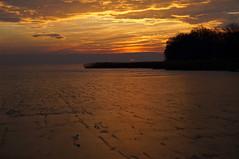 frozen orange (tamasmatusik) Tags: winter sunset sundown naplemente balaton rvflp tl