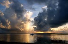 Tropical memories  * (Snorkle-suz) Tags: sky sea sunset clouds ocean water light tonga fafaisland boat reflection explored exploredonflickr outside outdoor beach coast seashore shore seaside sand panasonicdmctz2 seascape inexplore beachscape beachscene beaches seascapes