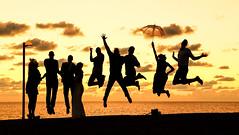 Sun set of a happy day (ido1) Tags: wedding sunset silhouette happy jump day jaffa