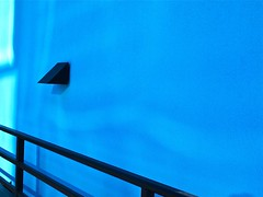 wallblues - ( Explore ) (Demetrios Lyras) Tags: california blue usa abstract art angle fav50 southsanfrancisco seabreezeinn fav10 fav5 fav25 fav100 inexplore fav75 anglesanglesangles wallblues jjslimousineserviceinc
