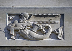 Ulysses Ricci bas-relief of a triton, 1 (diffendale) Tags: sculpture west detail building male art stone architecture campus beard marine university snake michigan annarbor mortar limestone cape medicine ur serpent hybrid creature pietra mantle faade 1925 sculptor triton universityofmichigan sculpted initials merman basrelief drapery pestle billowing medicalschool bassorilievo calcare ulyssesricci archaistic cclittlebuilding 1920sce 20thcce