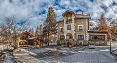 Hotel in Crasta - HDR (bohnengarten) Tags: mountain alps eos schweiz switzerland maria swiss berge val alpen engadin segl sils graubnden fex 70d crasta