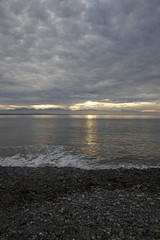 Cloudy sunset (Getting Better Shots) Tags: ocean beach water clouds reflections whidbeyisland hikes ebeylanding