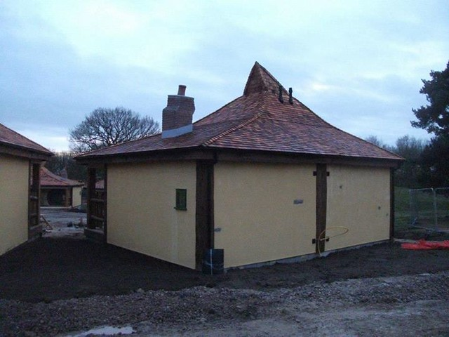 14/12/14 - One of the completed lodges.