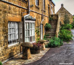Up The Stairs (Supersnappz1) Tags: flowers england stone architecture steps cotswolds medieval gloucestershire historic hdr chippingcampdon supersnappz