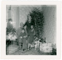 The Ghosts of Christmas Past (Alan Mays) Tags: christmas xmas old trees decorations girls men boys strange portraits vintage children women funny holidays humorous interiors rooms photos patterns families humor ephemera gifts photographs ornaments presents tinsel mysterious unusual wallpapers amusing christmastrees ghostly corners foundphotos doubleexposures december25 vptp