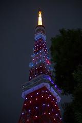 TokyoTower_illumination (ishizen) Tags: japan tokyo sony voigtlander 日本 tokyotower 東京 nikonf 東京タワー α7 nokton58 colorskopar20