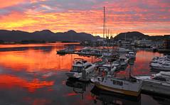 RMS_17077 (Sogn og Fjordane fylkeskommune) Tags: natur båt solnedgang båthavn båtar vestkysten båthamn