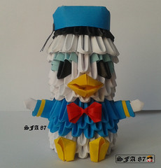 Donald Duck Origami 3d (Samuel Sfa87) Tags: comics paper duck 3d origami comic arte handmade crafts craft disney donald sfa pato block fumetti walt artisan papercraft paperino arteempapel blockfolding origami3d sfaorigami sfa87 arteconlacarta