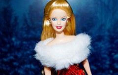 Getting into the Christmas mood (farmspeedracer) Tags: woman holiday snow girl beauty festive toy happy doll december femme barbie celebration blonde generation collector 2014 playline