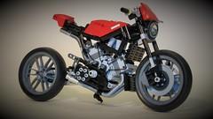 V4 Roadster (Lightning1200) Tags: cafe lego motorbike technic motorcycle racer moc v4