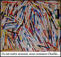 Ce est notre arsenal, nous sommes Charlie... (Pep Companyó - Barraló) Tags: noussommescharlie ceestnotrearsenal