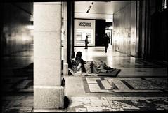 l'assenza #3 (pino piedimonte) Tags: street bw italy blackwhite strada italia milano homeless biancoenero neroamet licwip pinopiedimonte