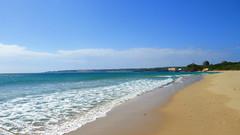 good day to walk.. (hailin.elle) Tags: ocean morning blue sea seascape beach water coast seaside sand waves outdoor shoreline shore daytime   seashore clearbluewater