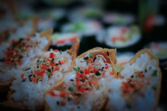 It's A Colorful Night (Kenny Dong) Tags: food japan canon sushi cuisine japanese colorful rice tofu homemade roll foodie