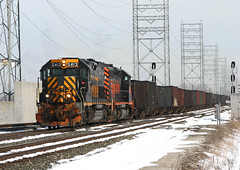 Dry Creek (GLC 392) Tags: railroad ohio lake snow rio creek train grande empty railway dry coke denver we toledo western oh erie wheeling csx emd sd40t2 3016 drgw 5413 walbridge sd403 k388