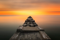 Dream (David Colombo Photography) Tags: longexposure blue orange brown sun lake color wisconsin clouds sunrise dawn pier nikon outdoor vibrant jetty urbandecay lakemichigan milwaukee shorewood d800 davidcolombo davidcolombophotography