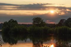 Sunset over Lake Horton (Maggggie) Tags: lakehorton water sunset sun light lake trees nature explored