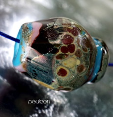 Pauleen (Laura Blanck Openstudio) Tags: pink blue usa abstract black art glass rose rock stone silver necklace beads leaf big shiny colorful aqua artist european purple handmade eggplant turquoise burgundy fine arts violet lavender funky jewelry charm holes made odd pebble lilac earthy single faceted huge mauve bead organic ruby murano grape lampwork multicolor raku artisan pendant whimsical nugget frit openstudio asymmetric ocher focal speckles silvered openstudiobeads