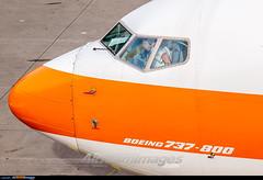 Amsterdam Schiphol Airport: Boeing 737-8K5 (Simone Ciaralli - AirTeamImages) Tags: amsterdam simone aviation olympus boeing ams saimon avgeek airteamimages saimonvolo ciaralli