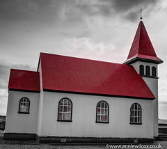 Old  Church Grindavk (anniew69) Tags: bw color building church photography blackwhite iceland nikon day1 hdr highdynamicrange apr hdri edifice edifices placeofworship northatlantic 2016 grindavk travelphotography photomatix reykjanespeninsula grindavik theoldchurch religiousbuilding photographytechnique d7000 anniewilcox anniew69