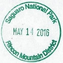 National Park Passport Stamp - Saguaro National Park Rincon District (colinLmiller) Tags: nationalpark saguaronationalpark 2016 passportstamp rincondistrict