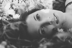 Eyes in the nature (www.FrancescoToluPhotography.com) Tags: flowers portrait bw nature beauty smile blackwhite eyes nikon shooting ritratto bianconero francescotoluphotography