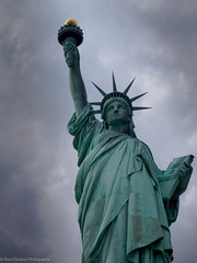 Lady Liberty, USA (ravi_pardesi) Tags: nyc newyorkcity usa ny newyork ferry america french liberty hope freedom cloudy nj torch statueofliberty july4th independence libertystatepark ladyliberty awesomeness
