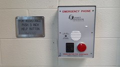 Emergency phone, Potomac Hall (SchuminWeb) Tags: rescue 3 building college skyline buildings campus for james virginia march three hall inch university phone ben web dorm police help madison va area button potomac push residence dormitory emergency residential jmu assistance phones harrisonburg refuge dorms dormitories jamesmadisonuniversity 2016 3inch areaofrescueassistance potomachall schumin schuminweb
