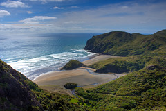 Anawhata, Auckland (Liam_Cunningham_) Tags: newzealand summer beach nature canon landscape photography surf auckland westcoast hdr anawhata tonemapped