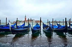 A Gloomy Day in Venice! (A_Sarkar) Tags: ocean city travel blue venice sea sky italy color colour tourism water rain boats outdoors grey boat cool nikon perfect europe transport gray rainy level raindrops sail gondola gloom waterscape d7000