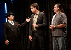 (L-R) Immortralizer Dr. Takeshi Yamada, Television Show Host Zach Selwyn, and Challenger Mike McCullough in the episode 3 of the Immortralized, season 1. In this scene, they are ready to reveal their artworks. (searabbits23) Tags: ca ny newyork sexy celebrity art hat fashion animal brooklyn asian coneyisland japanese star tv google king artist dragon god vampire famous gothic goth uma ufo pop taxidermy vogue cnn tuxedo bikini tophat unitednations playboy entertainer oddities genius mermaid amc mardigras salvadordali performer unicorn billclinton billgates aol vangogh curiosities sideshow jeffkoons globalwarming mart magician takashimurakami pablopicasso steampunk losangels damienhirst cryptozoology freakshow leonardodavinci realityshow seara immortalized takeshiyamada roguetaxidermy searabbit barrackobama ladygaga climategate