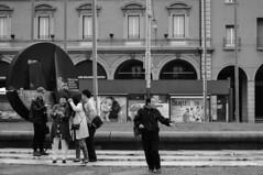 Turisti (lorenzog.) Tags: people bw italy asian nikon streetphotography bologna mobilephone d300 2015 bolognacentrale