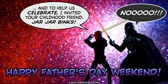 PopFig: Father Knows Binks (JD Hancock) Tags: comics fun starwars funny webcomics lol darthvader lukeskywalker geeky photocomics jdhancock popfig