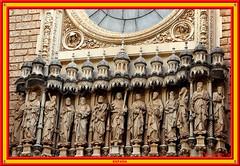 Sculptures of Jesus Christ & 12 Apostles at Montserrat (vicbrasil) Tags: barcelona madrid people men children spain women bilbao zaragoza santiagodecompostela montserrat oviedo sansebastian pamplona santillanadelmar