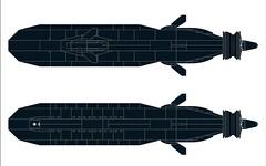 SSX-Dragonfish-MOD2-005 (Dragonov Brick Works) Tags: lego submarine snot ldraw microscale studless