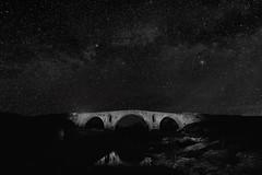 Provence - Roman bridge (Pont Julien) (Ludo_M) Tags: pontjulien bonnieux france europe europa trip travel night nuit noche nacht vaucluse provence pose poselongue longexposure nightshot nightscape landscape ef1635mmf4lisusm canon eos 6d canoneos6d wideangle grandangle patrimoine architecture heritage black sky bridge pont calavon noiretblanc monochrome fondnoir ciel extrieur voielacte toiles milkyway