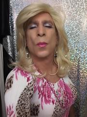 Ache for it...   (bevhills2) Tags: kissme pinkkiss blond blonde pink tranny trannydress trans kiss