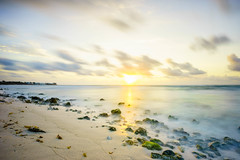 Rocky Coast (KD Robinson) Tags: ocean city longexposure travel sky sun seascape color detail beach water beautiful sunshine sunrise mexico sand rocks view explore mx impressive akumal quintanaroo travelphotography